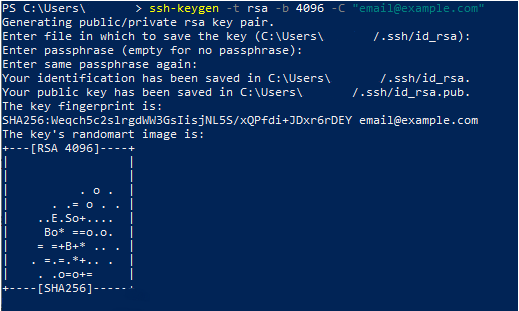 Generate SSH keys for Git on Windows rsa-windows