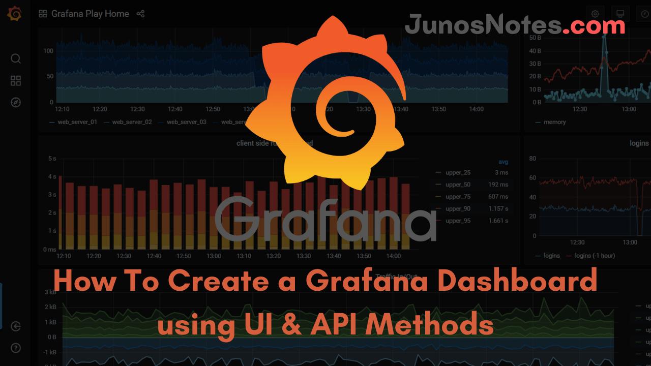 How To Create a Grafana Dashboard using UI and API