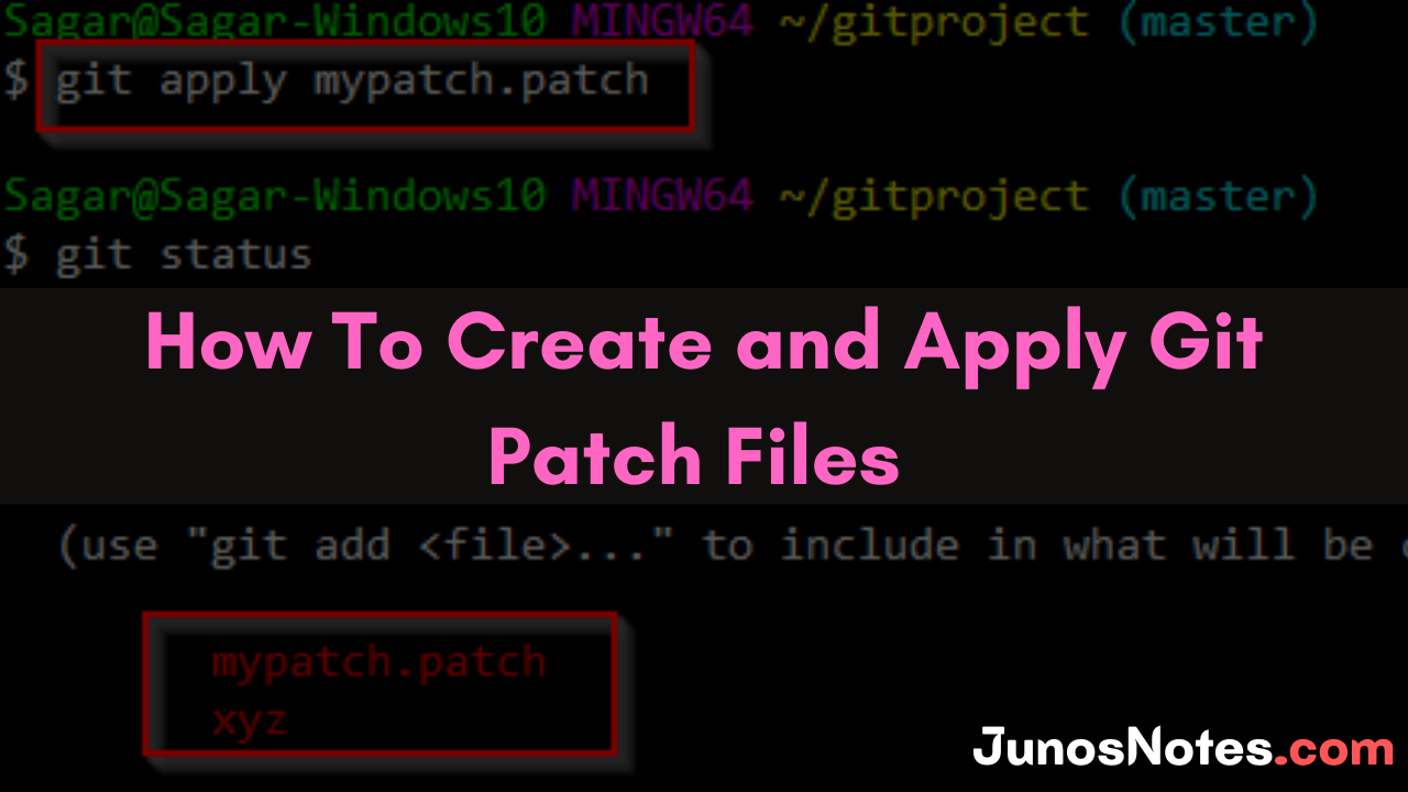 How To Create and Apply Git Patch Files