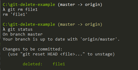 How To Delete File on Git git-rm-example