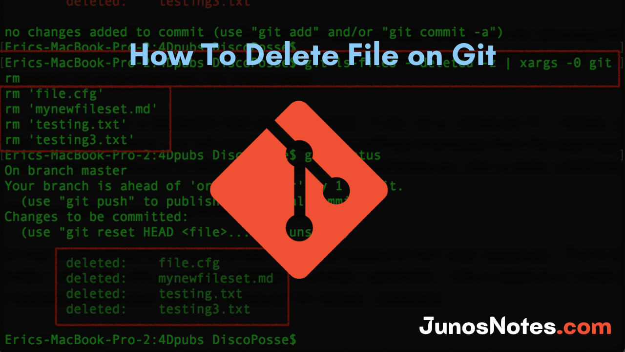 How To Delete File on Git
