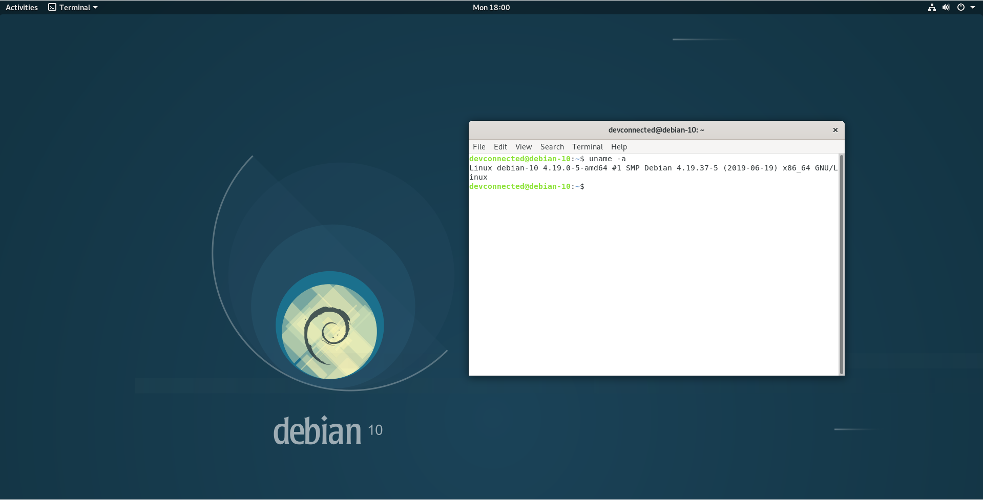 How To Install and Configure Debian 10 Buster with GNOME backgorund