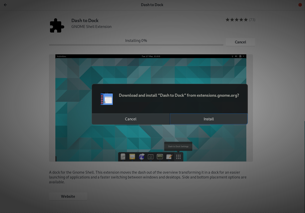 How To Install and Configure Debian 10 Buster with GNOME step-41-dash-dock