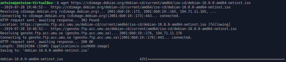 How To Install and Configure Debian 10 Buster with GNOME wget