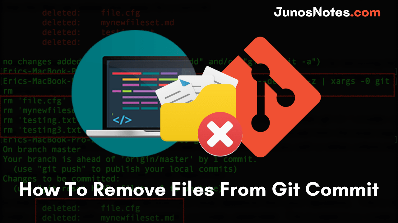 How To Remove Files From Git Commit