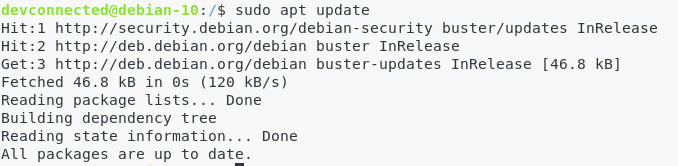 II – Install Git from official sources apt-update