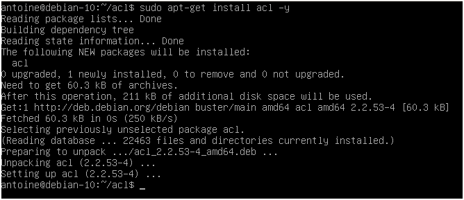 Checking ACL packages installation