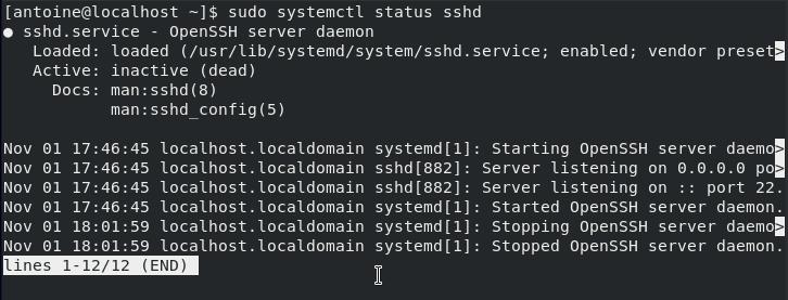 Installing OpenSSH Server on CentOS 8 sshd