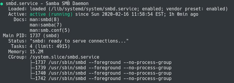 Installing Samba on Debian samba-service