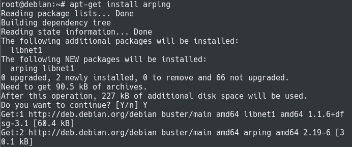 Installing arping on Linux arping