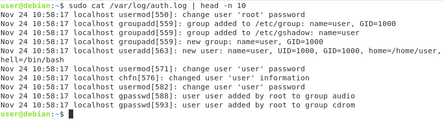Linux Log File Location auth