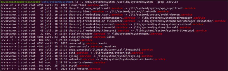 List All Service Files using list-unit-files list-files-using-grep