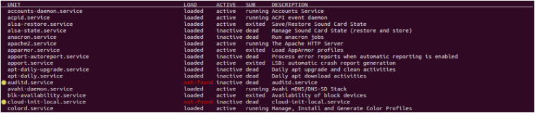 List All Services on Linux using list-units list-inactive-services