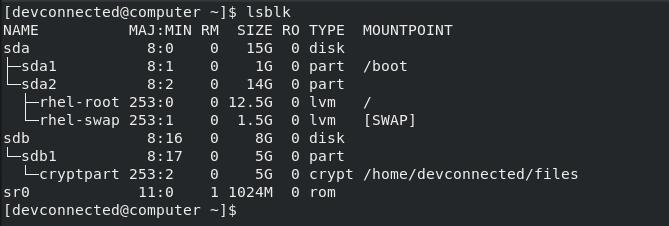 List Disks on Linux using lsblk-command