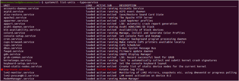 List Services using systemctl list-services-linux-systemd
