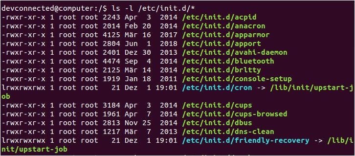 List SysVinit Services in Folders initd-folder