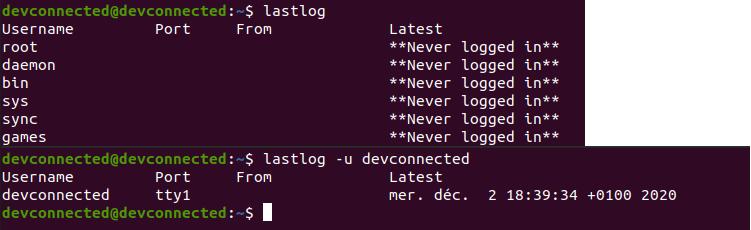 List User Last Login on Linux lastlog-command