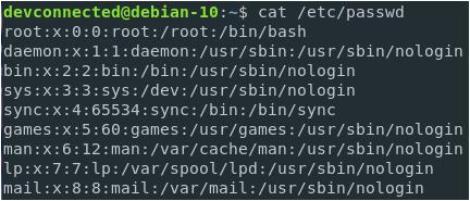 List Users on Linux etc-passwd