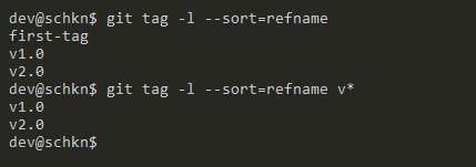 List and Sort Git Tags git-tag-sort