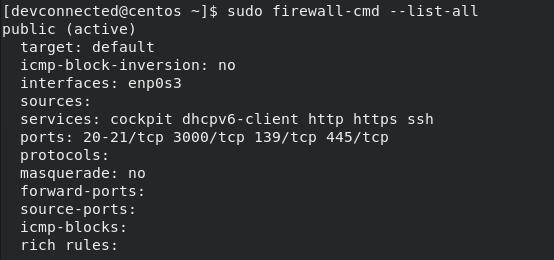 Opening Samba Ports on your firewall-centos