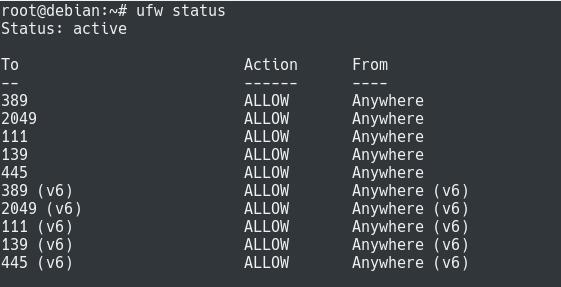 Opening Samba Ports on your firewall ufw-status