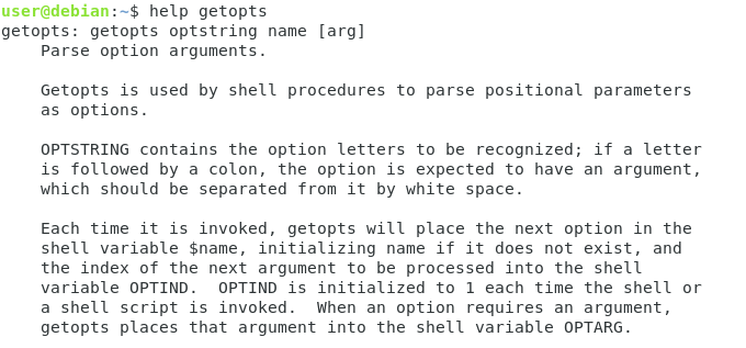 Parsing script options using getopts getopts