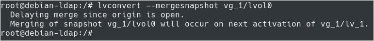 Restoring LVM Snapshots lvconvert