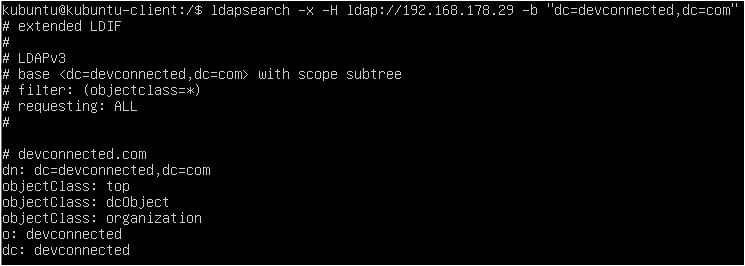 Search LDAP using ldapsearch ldapsearch