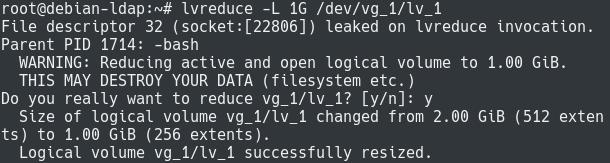 Shrinking Existing Filesystems using LVM lvreduce