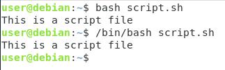 Specifying the shell interpreter bash-script