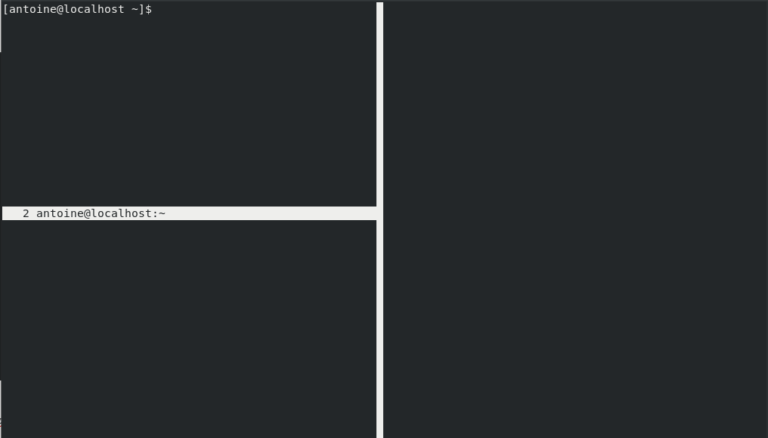 Splitting screen windows vertically and horizontally layout