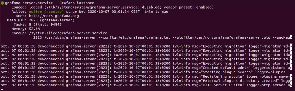 Start your grafana-server service grafana-server