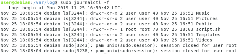 Using systemd-cat journalctl-2