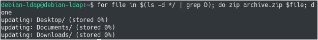 Zipping Directories using Bash list-directories-2