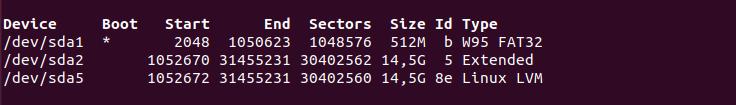 a – Create Swap Partition on a LVM device fdisk-list