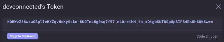 a – Get a secure token token