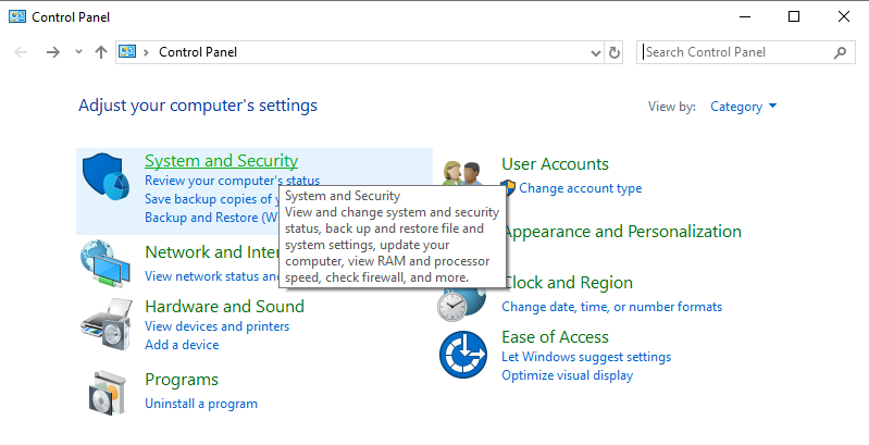 a – Get your current Windows version control-panel