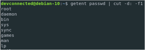 a – List Usernames with getent-passwd