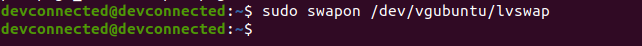 c – Enabling your swap partition swapon-active
