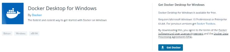 c – Install Docker Desktop for Windows get-docker