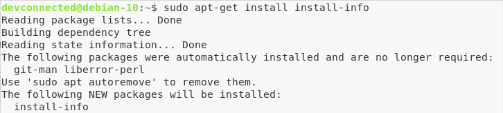 c – Install the install-info dependencies manual-3