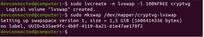 create-swap-logical-volume