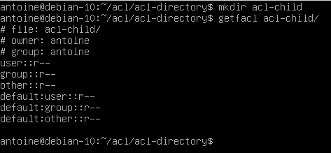 Creating access control lists defaults on directories default-2