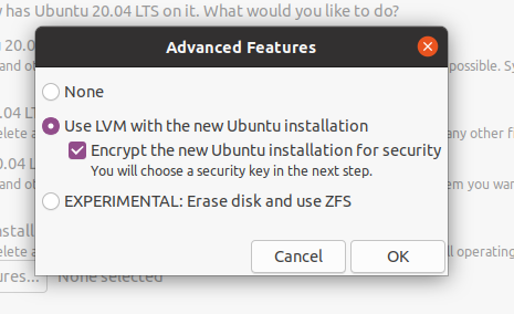 Encrypting Root Filesystem From Installation Wizard
