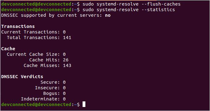 flush-dns-systemd-resolve