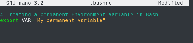 Setting Permanent Environment Variables in Bash