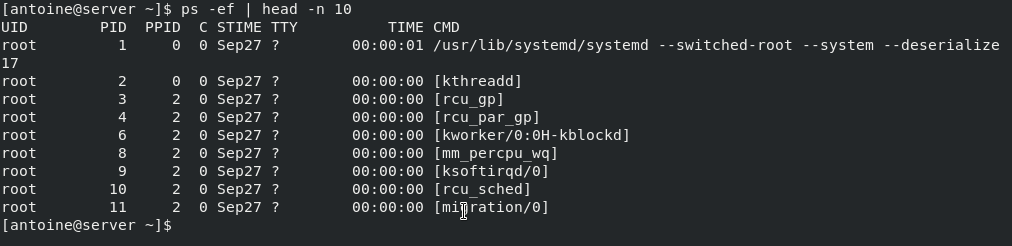 Identifying running processes on Linux