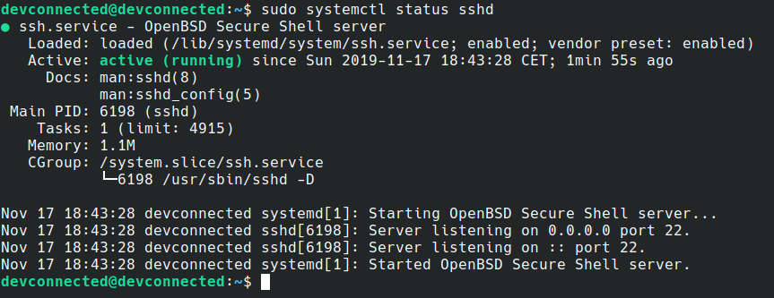 sshd-service