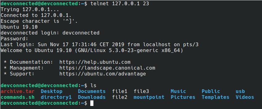 telnet-example