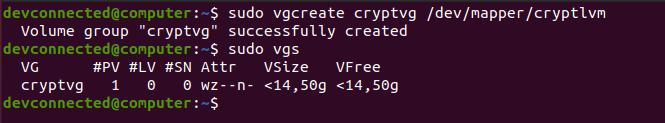 vgcreate-command